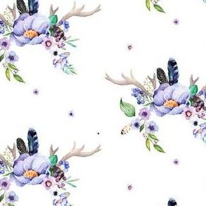 """4"""" Purple Deer Antlers"""