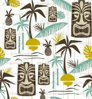 Island Tiki - White