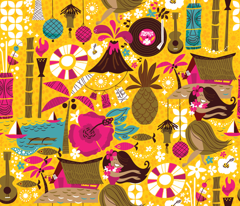 Mahalo from the MidCentury fabric by cynthiafrenette on Spoonflower - custom fabric
