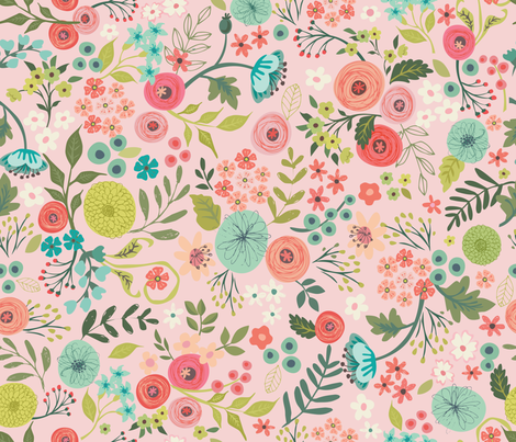 Bouquet No1 fabric by bzbdesigner on Spoonflower - custom fabric