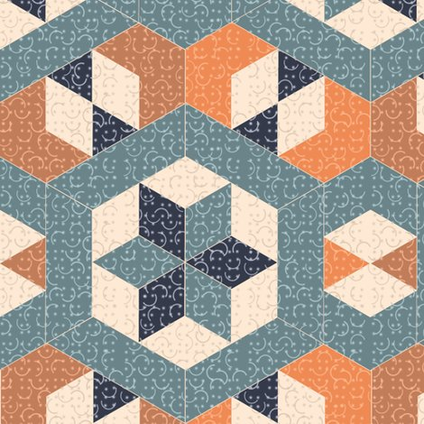 Rrrtextured_blue_and_orange_hexagons_and_diamonds_shop_preview