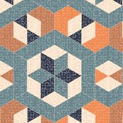Rrrtextured_blue_and_orange_hexagons_and_diamonds_shop_thumb