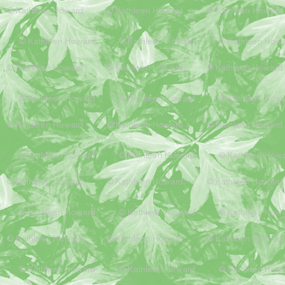 Bleeding_heart_green_bunch_leaves_seamless_double_leaves_inverse