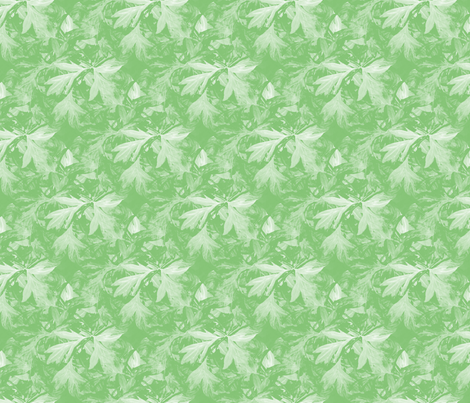 Bleeding_heart_green_bunch_leaves_seamless_double_leaves_inverse fabric by khowardquilts on Spoonflower - custom fabric