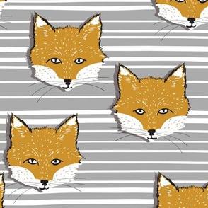 Foxy Stripe (mustard + silver)
