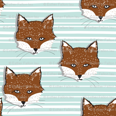 Foxy Stripe (sienna/powder blue)