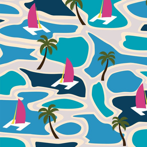 Lagoons and Pink Catamaran Camouflage