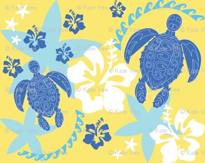 Island Turtles Swimming_blue_hawaii