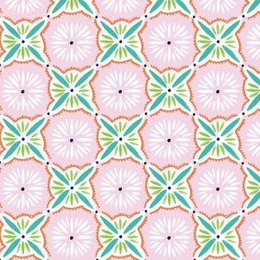 Daisy Tile - Pink Turquoise