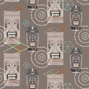 Tiki Town Retro (Brown multi)