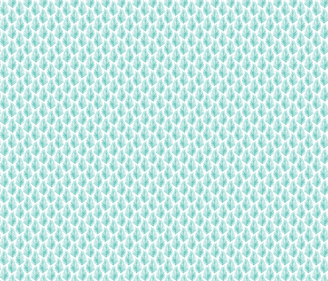 Feather Leaf - Dark Turquoise fabric by jillbyers on Spoonflower - custom fabric