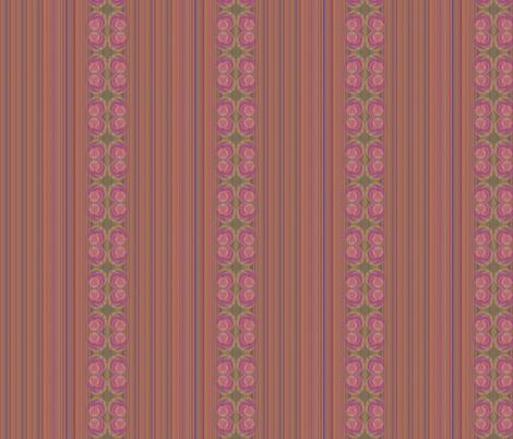 Rosy stripes fabric by twigsandblossoms on Spoonflower - custom fabric