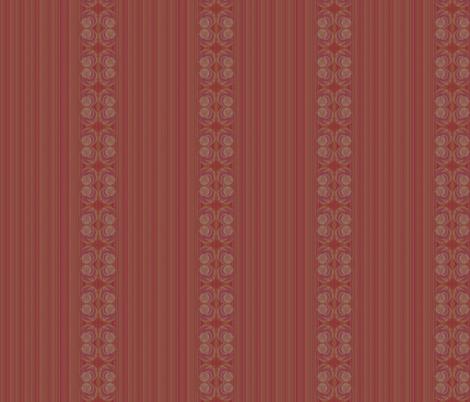 Ruby stripes fabric by twigsandblossoms on Spoonflower - custom fabric