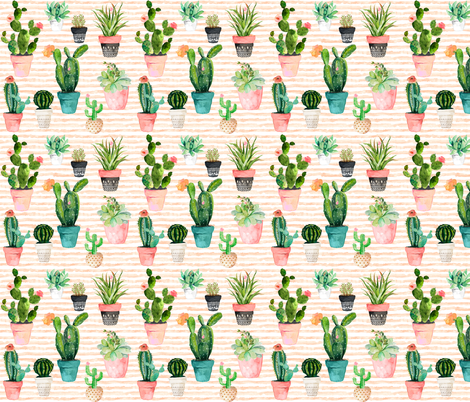 """12"""" Cactus Obsession  fabric by shopcabin on Spoonflower - custom fabric"""