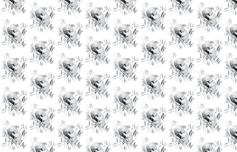 Sleepy Koala fabric by thistleandfox on Spoonflower - custom fabric
