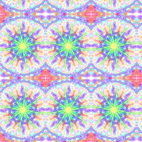 Chained Lightning Border Stripe fabric by rhondadesigns on Spoonflower - custom fabric