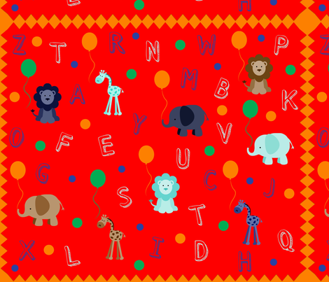 The ABC's of the Circus fabric by bent_line_designs on Spoonflower - custom fabric