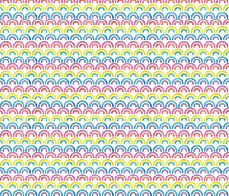 Rah Rah rainbows! fabric by ivydoodlestudio on Spoonflower - custom fabric