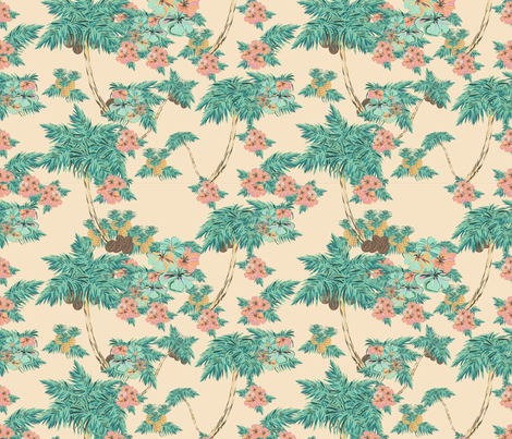 Hawaii pattern fabric by arrpdesign on Spoonflower - custom fabric