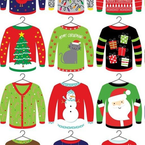 "4"" Ugly Christmas Sweaters"