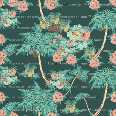 hawaii pattern dark