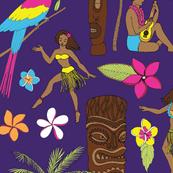 Retro Hawaii Tiki - Purple
