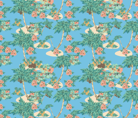 Hawaii blue fabric by arrpdesign on Spoonflower - custom fabric