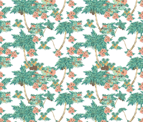 tropical retro kitch fabric by arrpdesign on Spoonflower - custom fabric