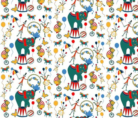 Retro Circus Days fabric by floramoon_designs on Spoonflower - custom fabric