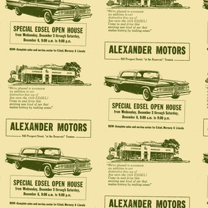 Alexander Motors 1959 Edsel advertisement Trenton NJ