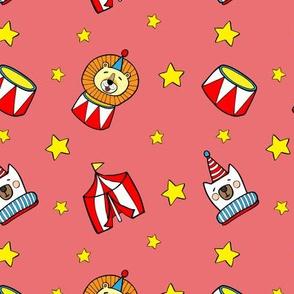 Mini circus in candy pink