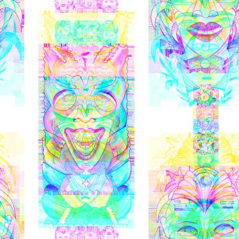 Rrainbow_pop_art_tiki_2_green_blue_by_paysmage_shop_preview