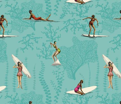 vintagesurfin_ fabric by hanneke_binnen on Spoonflower - custom fabric