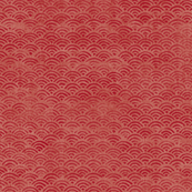Japanese Block Print Pattern of Ocean Waves, Japanese Waves Pattern in Red Ochre, Red Boho Print, Beach Fabric