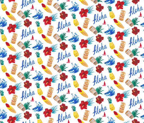 Aloha fabric by artishark on Spoonflower - custom fabric