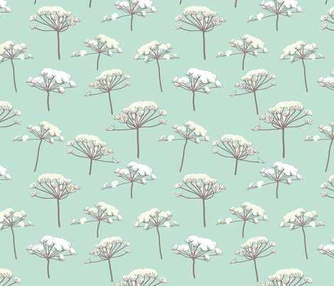 Queen Ann's lace in the snow grey fabric by ellila on Spoonflower - custom fabric