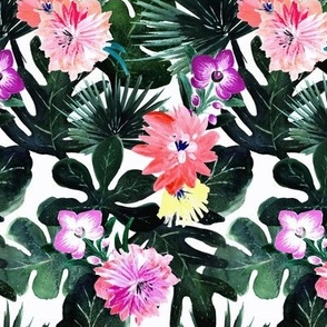Lush Tropical Floral - Small
