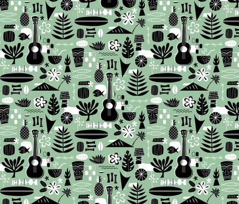 Waikiki Barkcloth fabric by lellobird on Spoonflower - custom fabric