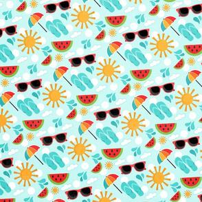 Summer Fun Flip Flops & Sunglasses