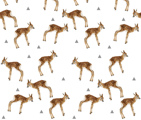 fawns_and_triangles fabric by taraput on Spoonflower - custom fabric