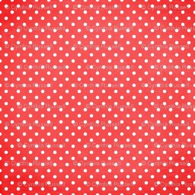 Summer Fun White Dots On Red