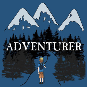 Boy Adventurer in Blue