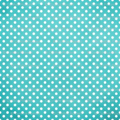 Summer Fun Turquoise Blue Polka Dots