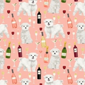 maltese wine fabric martini rose drinks fabric - peach