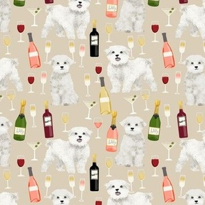 maltese wine fabric martini rose drinks fabric - sand