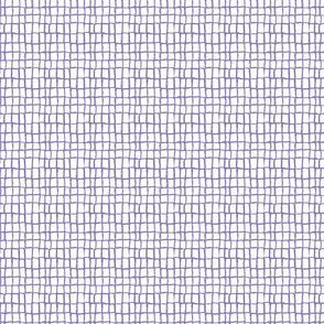 Grid Periwinkle on White