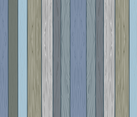 Something Fishy Planks of Wood fabric by aaron_christensen on Spoonflower - custom fabric