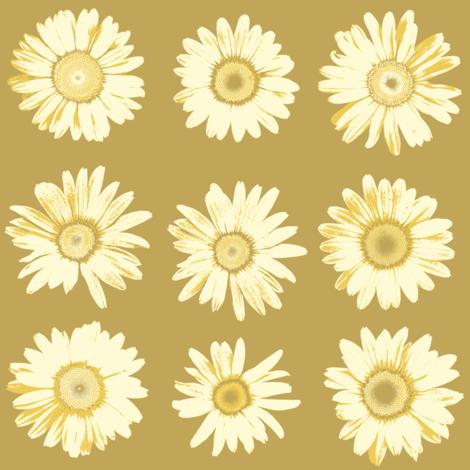 golden daisy dots fabric by weavingmajor on Spoonflower - custom fabric