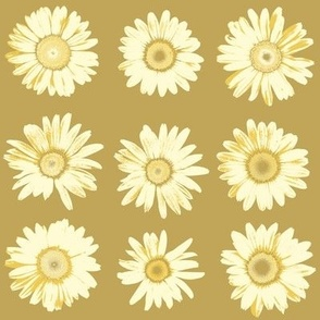 golden daisy dots