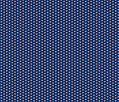 Heart on Navy fabric by blackwooddesign on Spoonflower - custom fabric